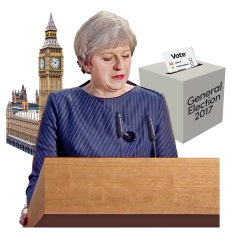Prime Minister Theresa May announcing a General Election